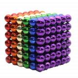 Neocube 216 bile magnetice 5mm, joc puzzle, multicolor