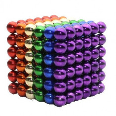 Neocube 216 bile magnetice 5mm, joc puzzle, culoare multicolor