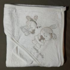 Prosop bebe cu glugă / capișon - iepurași