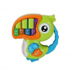 Jucarie Orga Papagal Tucan cu sunete si lumini pentru bebelusi.