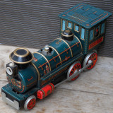 Cumpara ieftin LOCOMOTIVA WESTERN - MADE IN JAPAN - JUCARIE RARA, FACUTA DIN TABLA, MODERN TOYS
