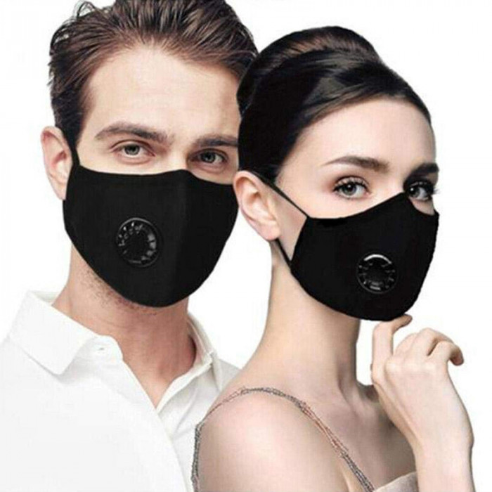 Masca de Protectie Praf Anti Ceata PM2.5 Breathing Valve Reutilizabila Filtru