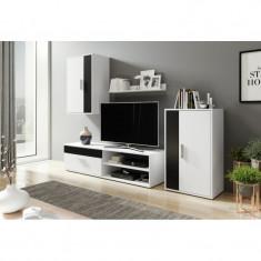 Mobila Sufragerie Berno alb-negru