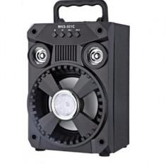 Boxa Portabila Bluetooth 502 AUX, USB, NEGRU Lumini disco