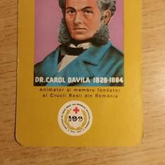 CCO 1976 - CALENDAR DE COLECTIE - PERSONALITATI - CAROL DAVILA - ANUL 1976