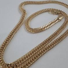 Lant Barbati dublu placat aur 18K,lungime 60 cm,grosime 0,5cm