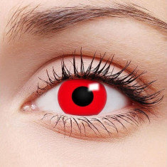 Lentile contact rosii Red Devil, unisex foto
