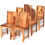 Scaune de bucătărie 6 buc, lemn masiv de sheesham