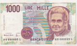Bnk bn Italia 1000 lire 1990 circulata Fazio/Amici