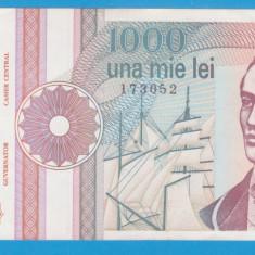 (1) BANCNOTA ROMANIA - 1.000 LEI 1991 (SEPTEMBRIE), SERIE CU PUNCT, STARE BUNA