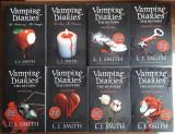 VAMPIRE DIARIES, 8 VOLUME IN ENGLEZA (paperback), L.J.SMITH, 2009-2012