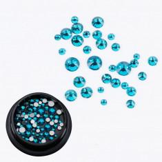 Cristale Swarovski pentru nail art 1-5mm - Blue