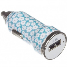 Incarcator auto Trendz Bullet Ditsy Floral 2100 mAh USB