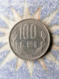 Moneda 100 Lei 1991 Cifre litere groase. România