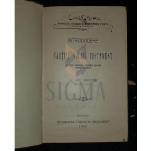 CORNOIU ION (Doctor) - INTRODUCERE IN CARTILE NOULUI TESTAMENT, 1903, Bucuresti