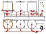 Utilaj de spalare CIP 200 – 400 cu 3 rezervoare