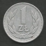 POLONIA 1 ZLOT ZLOTY 1974 [1] livrare in cartonas, Europa, Aluminiu