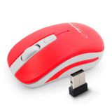 Mouse optic fara fir 4D Uranus Esperanza, Wireless, raza actiune 10 m, Alb/Rosu