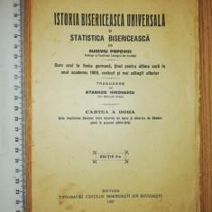 CARTE RELIGIE ISTORIA BISERICEASCA UNIVERSALA - EUGENIU POPOVICI CERNAUTI 1927