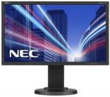 Monitor IPS LED Nec 21.5inch E224Wi, Full HD (1920 x 1080), VGA, DVI, DisplayPort, Pivot, 6 ms (Negru)