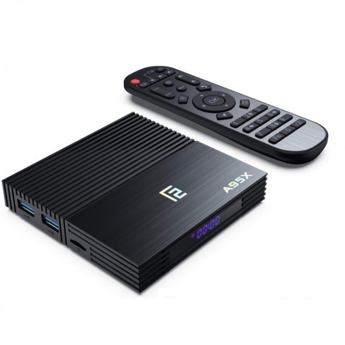 Smart TV Box Mini PC A95X F2 Android 9.0 4GB RAM 32GB ROM 4K Quad Core Bluetooth HDMI WiFi Dual Band Ethernet Slot Card SD