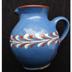 Cana veche Töpferei.Miniatura ceramica lucrata manual.Marcaj si semnatura.