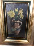 Tablou pictat manual ulei pe panza, Pictura cu rama tablou original semnat datat, Peisaje, Realism