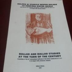 BALADA SI STUDIILE DESPRE BALADA LA CUMPANA DINTRE SECOLE LIMBA ENGLEZA 2001
