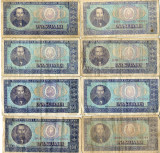 Lot 10 x Bancnote 100 lei 1966 Nicolae Balcescu Perioada Comunista