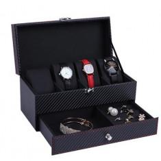 Cutie pentru Ceasuri si Bijuterii Black Carbon - WZ3449