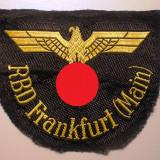 M.012 GERMANIA AL III-LEA REICH CAI FERATE Reichsbahn Ärmeladler RBD Frankfurt