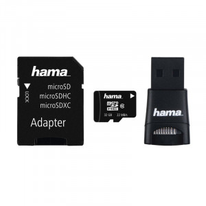 Card micro SDHC Hama, Class 10, 32 GB + adaptor USB