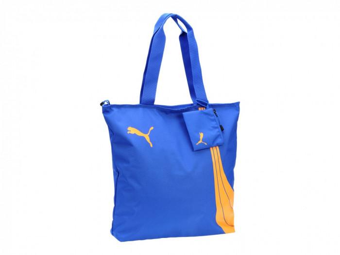Geanta de mana casual dama Puma Fundamentals Shopper dazzling-blue 07319214