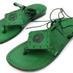 Sandale AzteK Sun Dama Piele Naturala Verzi