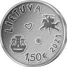 Lituania 1.5 Euro 2021 (The Sea Festival) 27.5 mm, KM-New UNC !!!, Europa