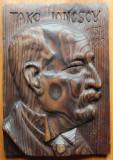 Take Ionescu ; Sculptura in lemn de Ioan H. Sarghie , 1932