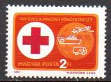 UNGARIA 1981, Aniversari - 100 de ani Crucea Rosie, MNH, serie neuzata