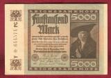 Bancnota Germania  -  REICHSBANKNOTE   - 5.000 MARK  1922