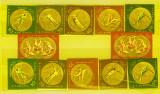 Romania 1961 Medalii de aur JO Melbourne si Roma, dantelat si nedantelat MNH, Nestampilat