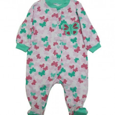 Salopeta / Pijama bebe cu fluturasi Z38, 1-2 ani, 1-3 luni, 12-18 luni, 3-6 luni, 6-9 luni, 9-12 luni, Multicolor