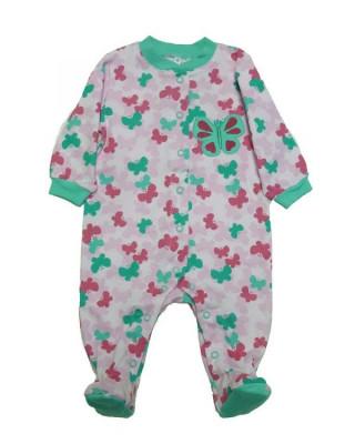 Salopeta / Pijama bebe cu fluturasi Z38 foto