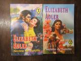ELIZABETH ADLER - SECRETE DE FAMILIE  , 2 VOLUME