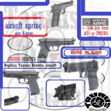 Replica pistol Taurus Beretta arc calibru 6mm airsoft Manson METALIC, Cyber Gun