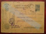 C.P.circ. CENZURAT ,Posta Militara Cenzurat-3 stampile, Necirculata, Printata