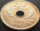 Moneda 25 Ore - DANEMARCA, anul 1969 *cod 2977 B --- XF, Europa