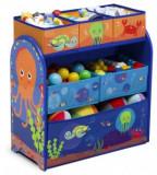 Organizator jucarii Copii Fun cu cadru din lemn Ocean