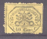 Italy Papal State 1868 Coat of arms 40C Mi.24 MH space filler AM.339