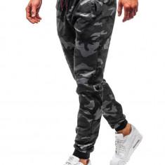 Pantaloni trening bărbați camuflaj-grafit Bolf MK19