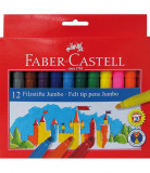 Carioci Jumbo Faber-Castell, 12 culori