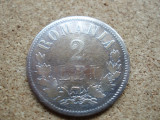 ROMANIA - 2 LEI 1873 , CAROL I , L 5.76